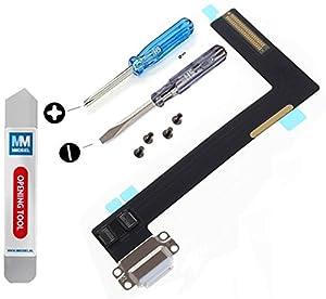 Dock Connector für iPad Air 2 Ladebuchse Flexkabel Anschluss inkl. professionelles Toolkit und 2 x Schrauben für einfache Montage MMOBIEL