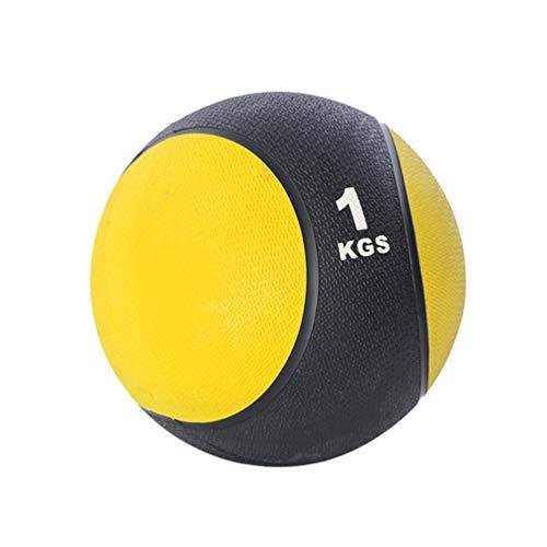 LIOOBO Balón Medicinal 1 kg ejercitar Fuerza acondicionamiento