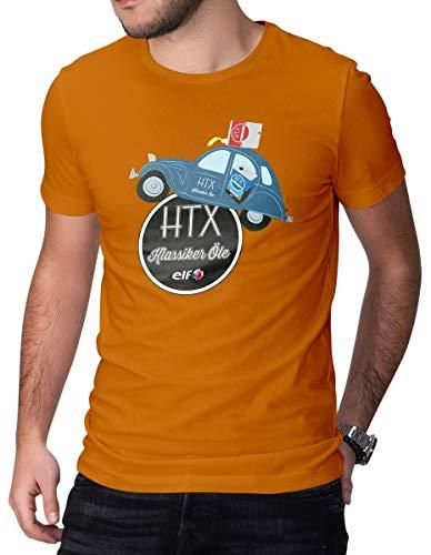 HTX by Elf Klassiker T-Shirt Citroen 2CV Herren Tee Orange 2XL