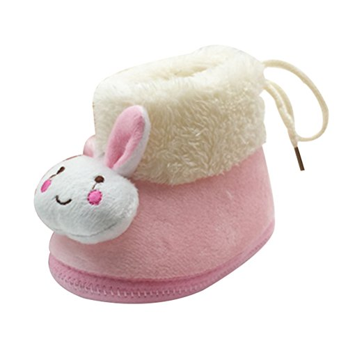 Cotton Boot Zhhlinyuan Warm Winter Soft xsx010 Girls Lovely Pink Shoes Plush Baby Infant wIIqZzrYx