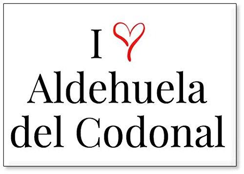 Mundus Souvenirs - Amo Aldehuela del Codonal, Imán para Nevera (diseño 3)