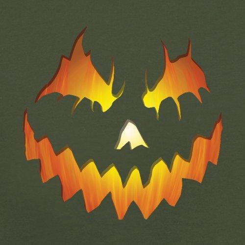 Halloween Pumpkin Face - Herren T-Shirt - 13 Farben Olivgrün
