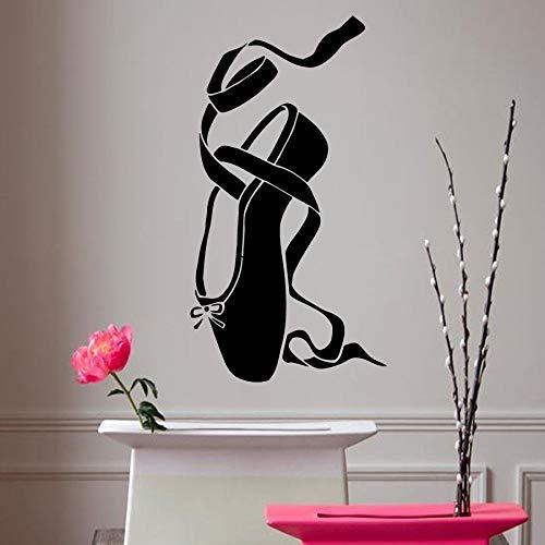 42 * 78cmBallet Vinyl Sticker Girl Pointes Ballet Schuhe Wandaufkleber Entfernbare Ballerina Dance Wall Decal Kids Room