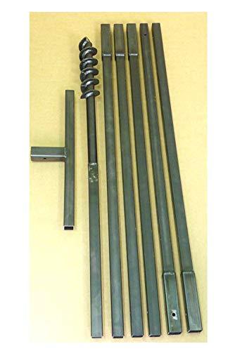 MWS-Apel Erdbohrer Erdlochbohrer Brunnenbohrer Pfahlbohrer Handerdbohrer 70 mm 6 meter Bohrgerät f. Brunnen und Rammfilter