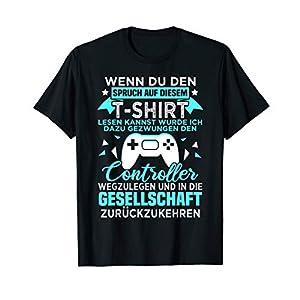 Gamer Zocker Games Pc – Lustiges Gaming Spruch T-Shirt