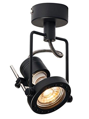 SLV LED Strahler N-TIC dreh- und schwenkbar | Smarte Wand- und Decken-Leuchte zur individuellen Innen-Beleuchtung | Decken-Spot, Deckenfluter, Deckenstrahler, Decken-Lampe, Wand-Lampe | GU10, EEK bis A++ (Fertig Ist Deckenfluter)