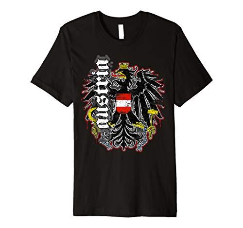 Österreich T-Shirt Retro Vintage Look mit Adler & Austria