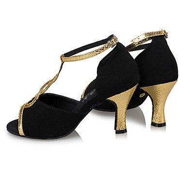 Chaussures De Danse-personnalisable-womens-danse Latine / Jazz / Moderne Chaussures De Danse / Moderne-carré-faux Cuir-noir / Noir