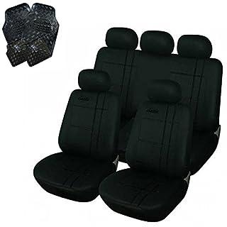 eSituro Universal Sitzbezüge für Auto Schonbezug mit 4 teillige Fußmatten SCMS0034-X