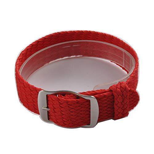 Uhrenarmband NATO-Strap 20mm NATO-Armband in Farbe rot aus Robustem Ballistic Nylon Uhr Armband Zulu