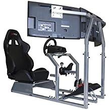 GTR simulador de Carreras Asiento – GTA-f Modelo Triple o único Soporte de Monitor