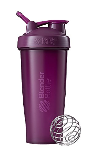 BlenderBottle Classic Loop Shaker, Protein Shaker mit BlenderBall 820ml, Plum