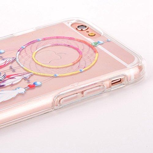 iPhone 6S Plus Silicone Case,iPhone 6S Plus Coque - Felfy Coque Souple Transparente TPU Silicone cadre et Plastic Back Case Premium Ultra-Light Ultra-Mince Skin de Protection Anti-Choc Bumper pour App Dreamcatcher