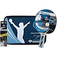 Donic-Schildkröt Set Premium de Tenis de Mesa Ovtcharov 700, 1 Raqueta, 3 Pelotas 3 Estrellas-ITTF, Valiosa Funda, 788483