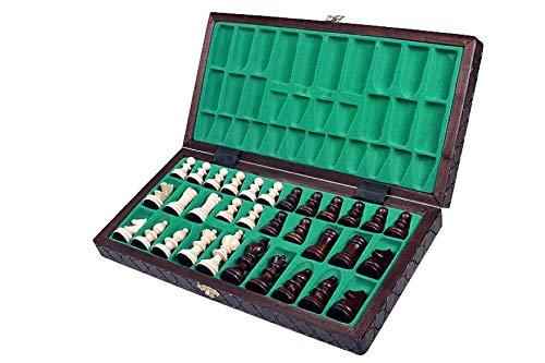 KADAX-Schachspiel-hochwertiges-Schachbrett-mit-Figuren-36-x-36-cm-Schach-aus-Holz-Schachset-fr-Erwachsene-Kinder-Anfnger-klappbare-Schachkassette-fr-Haus-Reise-klein