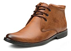 Escaro Mens Tan Formal Ankle Boots (ES1107KB_Tan_8)