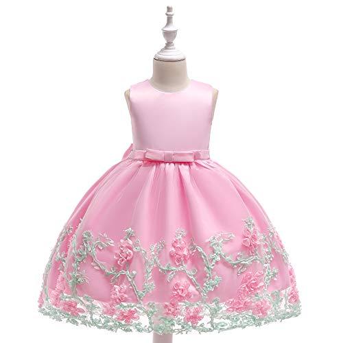 CHANMI 3 Monate - 4 Jahre altes Mädchen Blumenmädchen Prinzessin Kleid Kostüm Baumwolle Kinderkleid,D,110 (10 Monate Altes Mädchen Kostüm)