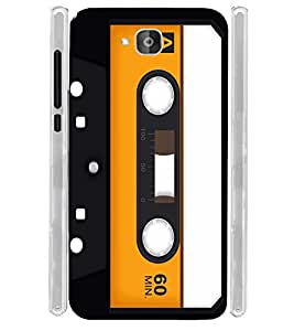 Cassette Vintage Soft Silicon Rubberized Back Case Cover for Huawei Honor Holly 2 Plus :: Honor Holly 2+