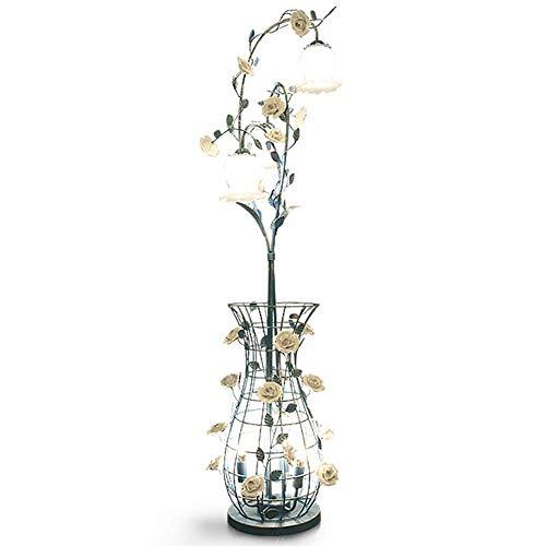 BAIJJ Best Wishes Shop Lámpara de pie American Country Style Hierro Flor...