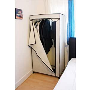 kingfisher leinwand kleiderschrank cremefarben. Black Bedroom Furniture Sets. Home Design Ideas