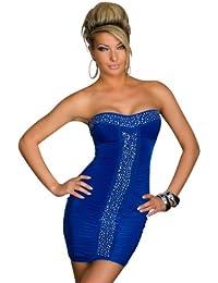 3997 Trägerloses Bandeau-Minikleid Kleid robe dress Gr. S/M 34 36