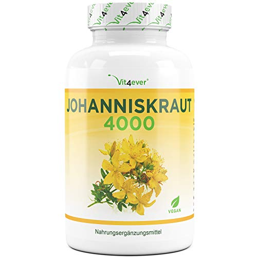 Vit4ever Johanniskraut 4000-180 Kapseln mit je 500 mg 8:1 Extrakt (entspricht 4000 mg) -...