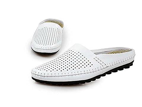 Onfly Männer Jungen Britischen Stil Geschlossene Zehe Beiläufig Hausschuhe Gehen Draussen Sandalen Wasser Schuhe Lässige Sneakers , white , 43