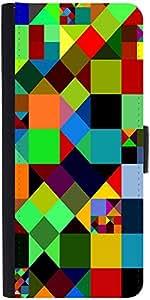 Snoogg Mosaic Tiles Polygon 2881 Designer Protective Flip Case Cover For Xiao...