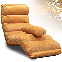 CQSMOO Sofá Perezoso Lounger Sofa Chair Desmontable Limpieza Plegable Sofa Bed Chair Balcony Lounge Chair by (Color : Light Brown)