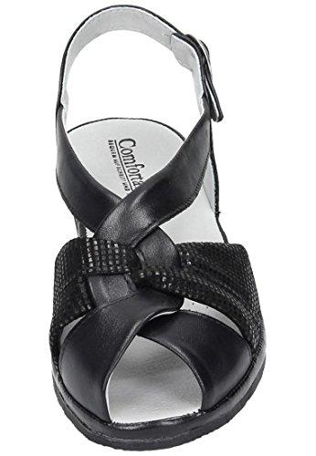 Comfortabel Sandalette Comfortabel Damen Damen Schwarz Sandalette Damen Comfortabel Sandalette Schwarz wEqpXIp