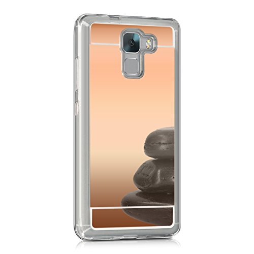 kwmobile Huawei Honor 7 / Honor 7 Premium Hülle - Handyhülle für Huawei Honor 7 / Honor 7 Premium - Handy Case in Rosegold spiegelnd