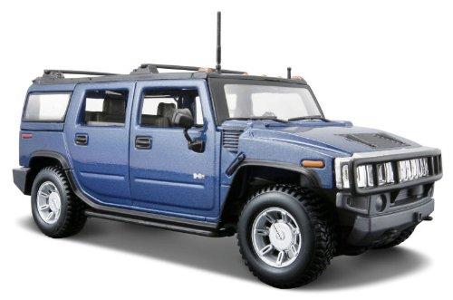 2003-hummer-h2-suv-maisto-31231-metallic-blue-127-die-cast