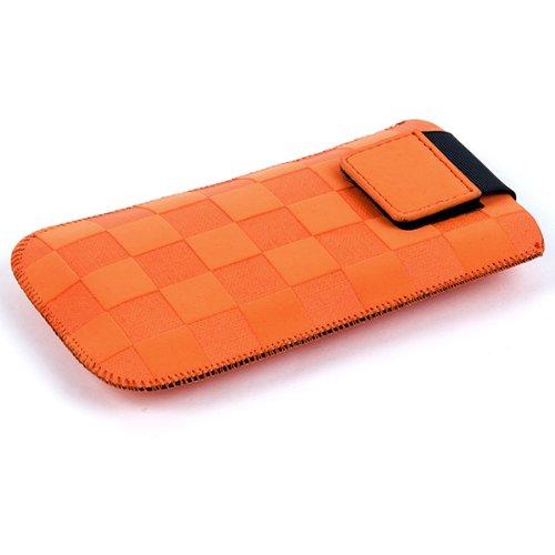NFE² Etui offen - apricot - mit Ausziehlasche und flacher Gürtelschlaufe für Samsung B2710