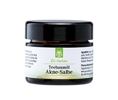Dr. Ehrlichs Teebaumöl Akne-Salbe - gegen Pickel, Mitesser und unreine Haut - mit der natürlichen...