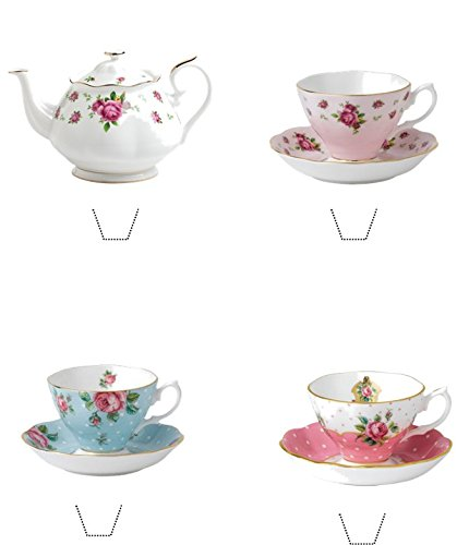 12-x-novelty-vintage-time-for-tea-mix-edible-standup-wafer-paper-cake-toppers
