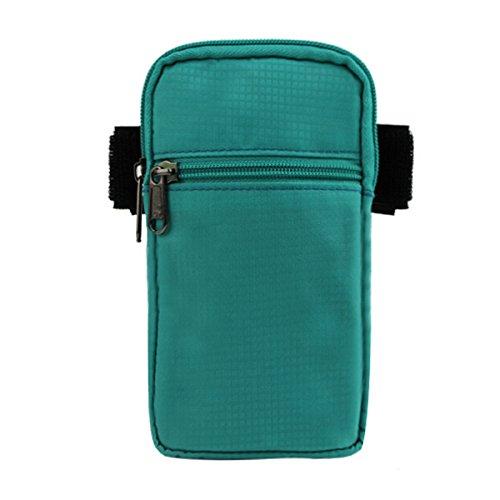 Zhudj indossare cintura tasche _ 2017nuovo abbigliamento borsa tasca cintura braccio braccio pollici impermeabile corsa grande schermo del telefono mobile, Black Blue