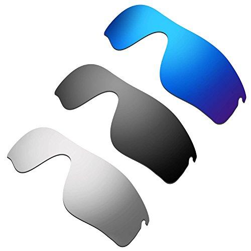 HKUCO Verstärken Ersatz-Brillengläser für Oakley RadarLock Path Blau/Schwarz/Titan TAC Polarisiert