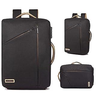 Neuleben Multifunktional 15,6'' Laptop Rucksack Handtasche Diebstahlschutz Wasserfest Business Aktentasche Notebooktasche für Damen Herren (Schwarz)