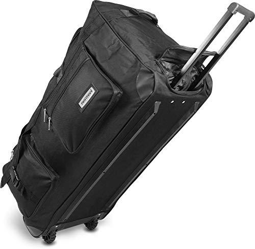 normani Reisetasche Jumbo Big-Travel mit Rollen riesige XXL V4 5. Generation Schwarz / 120 Liter