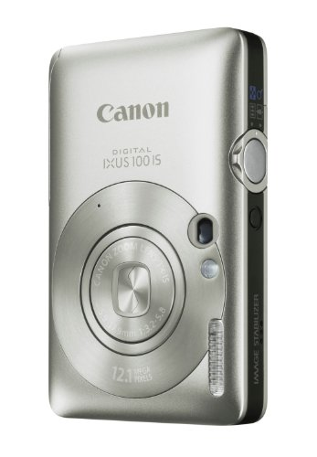 Canon Digital IXUS 100 IS Digitalkamera (12 Megapixel, 3-fach opt. Zoom, 6,4 cm (2,5 Zoll) Display, HDMI, SLIM) silber