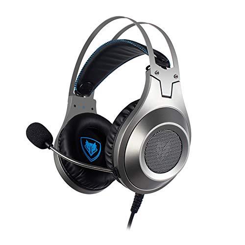 Flying boy Gaming Headset mit Mikrofon, Full Platform Gaming Headset für PC, Playstation 4, Xbox One, Nintendo Switch, VR, Android und iOS Chrome (Chrome-iphone-kopfhörer)