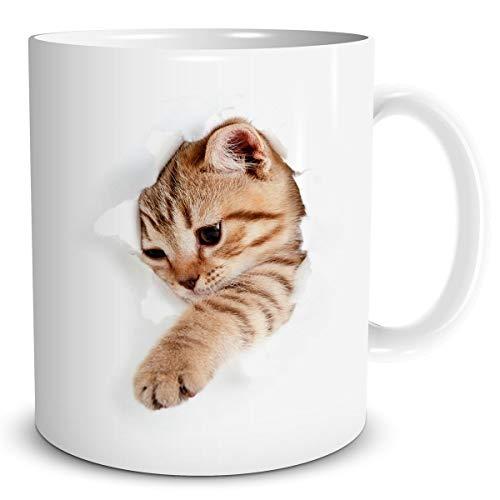 triosk tr de chat 0106 Tasse Mug de Café bricht par - Motif tasse à café chat Tasse Drôle