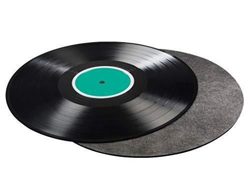 Hama LP Schallplatten-Matte 28,8cm Carbon-Faser Plattenteller-Matte Auflage Maxi Vinyl Plattenteller