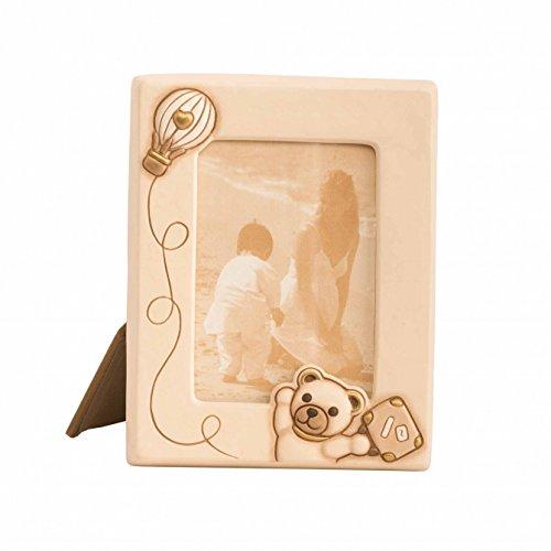 Thun portafoto medio teddy unisex per foto da 13x18 cm, cornice in ceramica