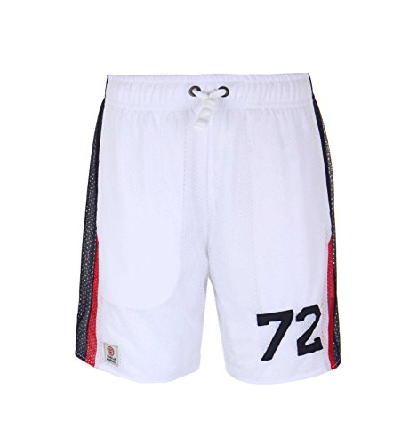 Franklin-Marshall-White-Mesh-Panelled-Shorts
