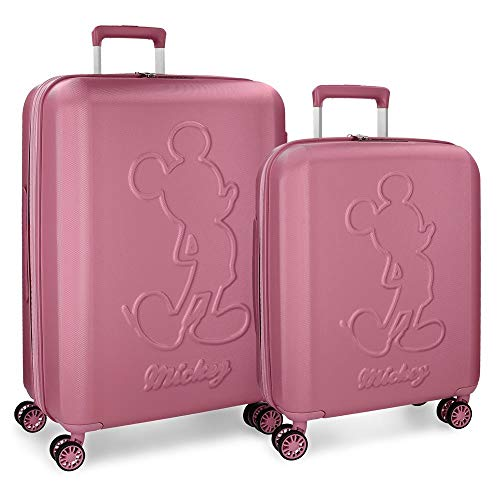Mickey Premium Pink Luggage Set 55-68 cm