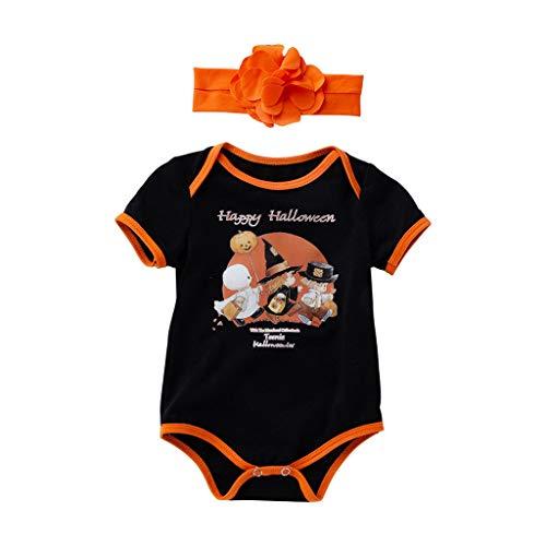 Asiatisches Panda Baby Kostüm - Lomelomme Halloween Overall Baby Winter Unisex Bodies und Stirnband Cosplay Kürbis Kostüm Kurzarm Top Baby Strampler Junge Mädchen Rundhals Oberteile