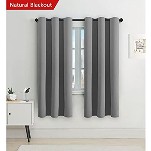 H.Versailtex Window Treatment Eyelet Blackout Curtains - Thermal Insulated Blackout