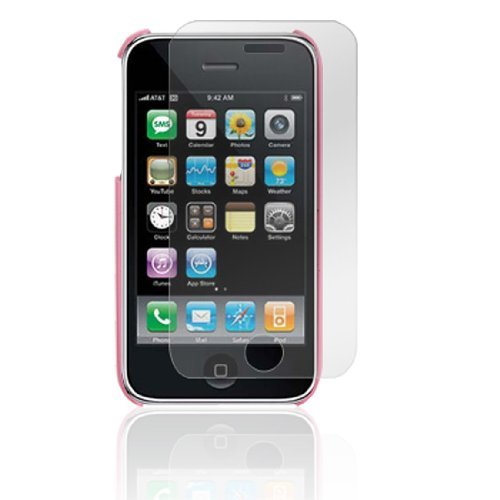 DealMux Screen Protector Pinkish Flower Case Cover voor iPhone 3G