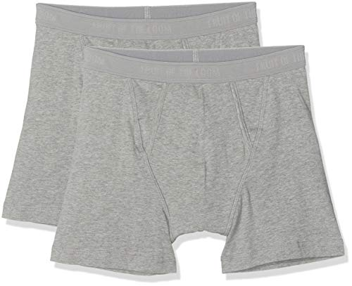 Fruit of the Loom Herren Boxershort 2 er Pack 170267, Gr. 5 (M), Grau (L2 Light Grey Marl) (Herren Fruit Of The Loom Slip)